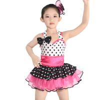 Best Polka Dots Kids Dance Clothes Multicolor Ballet Spandex Dance Dress wholesale