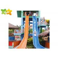 China Fun Tall Cool Water Slides For Kids Irritative Water Games Combination on sale