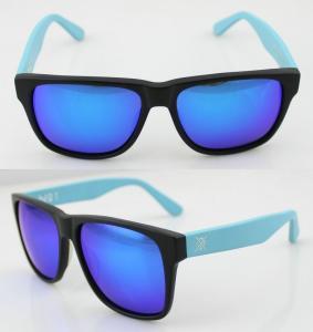 Best Fashion Custom Blue Acetate Frame Sunglasses , Vogue Sun Glasses wholesale