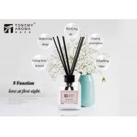 China Tabletop Ornament Essential Oil Reed Diffuser Gift Set 120ml With Rattan Sticks on sale