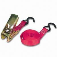 Buy cheap 4PK E-track Tie Down Strap with Vinyl Hooks, Measures 8ft in Length from wholesalers