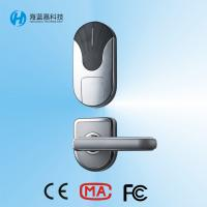 China Hailanjia Technology zinc alloy silvery electronic key card door locks on sale