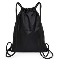 Best Lightweight Black Drawstring Backpack , Gym Sackpack For Hiking Yoga Swimming wholesale
