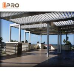 Best Outdoor Aluminium Louvered Bio - Climatic Pergola Motorised Waterproof Sliding And Folding wholesale