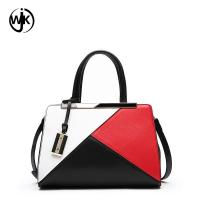 China woman bags luxury handbags custom hand bag casual style stitching Multicolor Large Briefcase leather handbags for women on sale