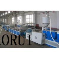 China Conical Double Screw Extruder , PVC Hollow Door Board Production Line on sale