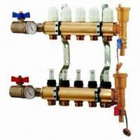China Brass Manifold for Underfloor Heating and Water Separators, Nickel-plated on sale