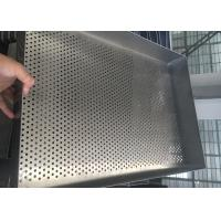 Cheap Baking Filter Stainless Steel Wire Mesh Trays , Square Mesh Metal Tray for sale
