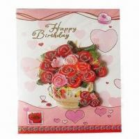 Best Promotional recording greeting card, various designs are available wholesale