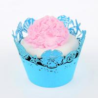 Best Customized Handmade Elegant Paper Cupcake Wrappers , Muffin Paper Wrappers wholesale