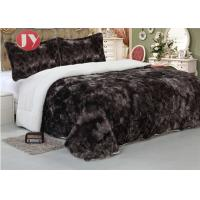 Best Polyester Double Sided Quilt Comforter Faux Fur Fleece Throw , Soft Plush Blankets King Size 92*96 wholesale