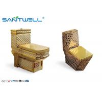 Cheap Sanitaryware Golden Ceramic Toilet  SWC1611 700*400*760 Mm One Piece for sale