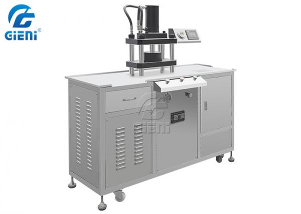 Cheap Table Type Make Up Powder Press Machine For Eyeshadow / Blusher / Powder Cake for sale