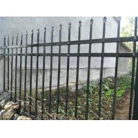 China Modern ASTM A -653 Steel Picket Fence Galvanized And Powder Coated Black on sale
