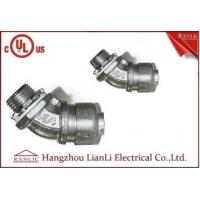 3/4UL Listed Liquid Tight Malleable Iron Steel Lock Insulated Flexible Connector Galvanized 45 Degree