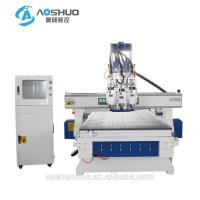 China 3 Head Spindle Cnc Wood Engraving Machine Industrial Routers Woodworking on sale