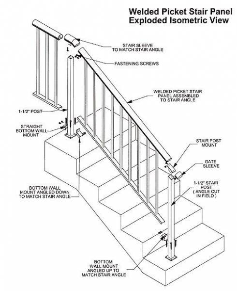 aluminum hand railing systems images