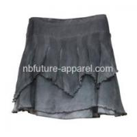 WOVEN PRODUCTS Ladies Short Crinkle Skirt