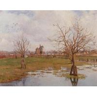 Best Impressionist(3830) Landscape_with_Flooded_Fields wholesale