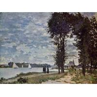 Best Impressionist(3830) The_Banks_of_the_Seine_at_Argenteuil wholesale