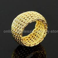 China Shimmer Silk Net Costume Jewelry Rings on sale