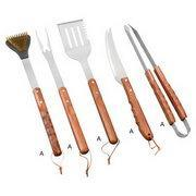 Best BBQ Tools Set Product name:5pcs mimic rosewood handleBBQ tools set wholesale
