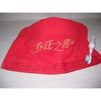 China 100% cotton jacquard face towel with satin border on sale