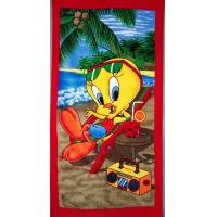 China 100% cotton velour reactive printed beach towel on sale
