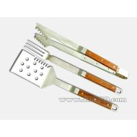 Best Rosewood forged handle 3pcs BBQ tool set wholesale