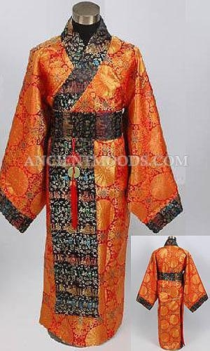 Cheap Han Dynasty Chinese Men Costume for sale
