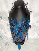 China Devine Blue Agate and Fresh Water Pearl Necklace on sale