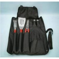 China 7-PC WOODEN BBQ TOOL SET IN A NYLON APRON on sale