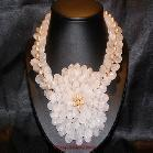 China View Details Dramatic Rose Quartz Fresh Water Pearl Necklace on sale