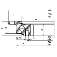 Best Four point contact ball slewing bearing (with outer flange and internal gear type) wholesale