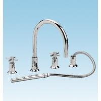 Best Cross Head 4 Taphole Bath Shower Mixer - Taps and Wastes wholesale