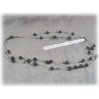 China black potato fresh water pearl necklace, movable tin cup neckla on sale