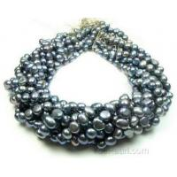 China 7-8mm black fresh water nugget pearl online craft supplies on sale