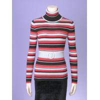 China TURTLE NECK LONG SLEEVES STRIPE RIBS PULLOVER on sale