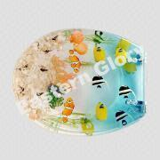 China Clear Resin Tropical Fish Toilet Seat with Adjustable Chrome-Plated Brass Hinges on sale