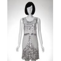 Best Woven Dress Silk Beaded Sequins Woven Dress wholesale