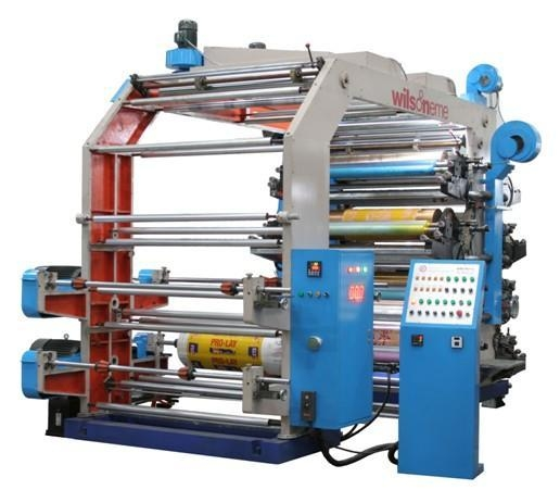China WS 808-1000GJ 8 Colors Stack Flexographic Printing Machine