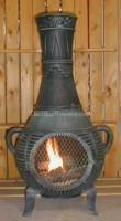 Best Gas Chimineas Pine Chiminea Outdoor Fireplace w/Gas[ALCH015GK] wholesale