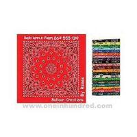 Best Paisley II Collection - Light Blue - Imported paisley design bandanna made of 100% cotton. wholesale