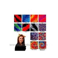 Best Tie dye bandanna with wax printing multi color design. wholesale