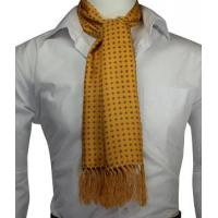 Best Knightsbridge Golden Yellow Squares Silk Scarf wholesale