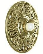 China Solid Brass Eastlake Style Door Bell Push Button on sale