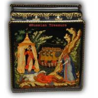 Buy cheap The Tale of Golden Cockerel - Palekh Lacquer box from wholesalers
