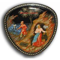 Buy cheap The Fisherman and the Fish - Palekh Lacquer box from wholesalers