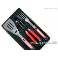 China 3pcs New handle bbq tools with color box on sale
