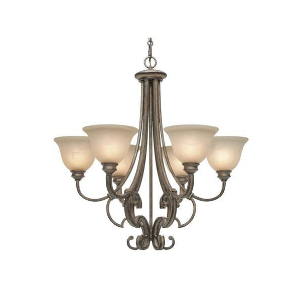 Golden Lighting 4002 D5 Rsb Chandelier In Russet Bronze